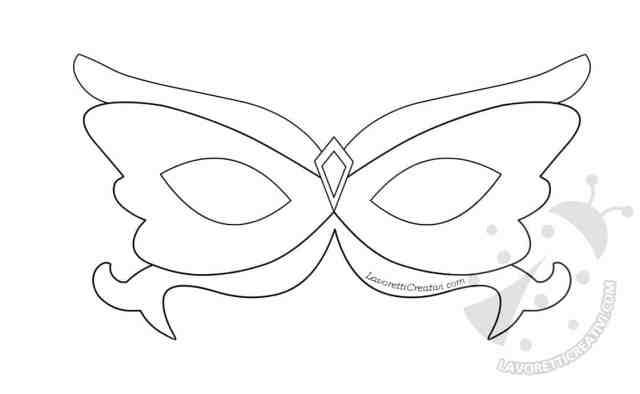 Sagome maschere da Principessa per Carnevale
