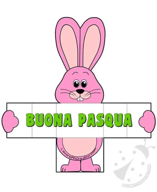 Biglietto di Pasqua con coniglio pieghevole