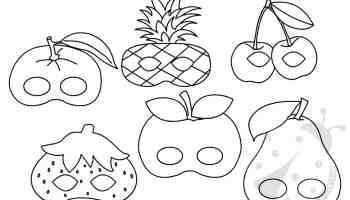 Set Maschere A Forma Di Frutta Da Stampare E Ritagliare