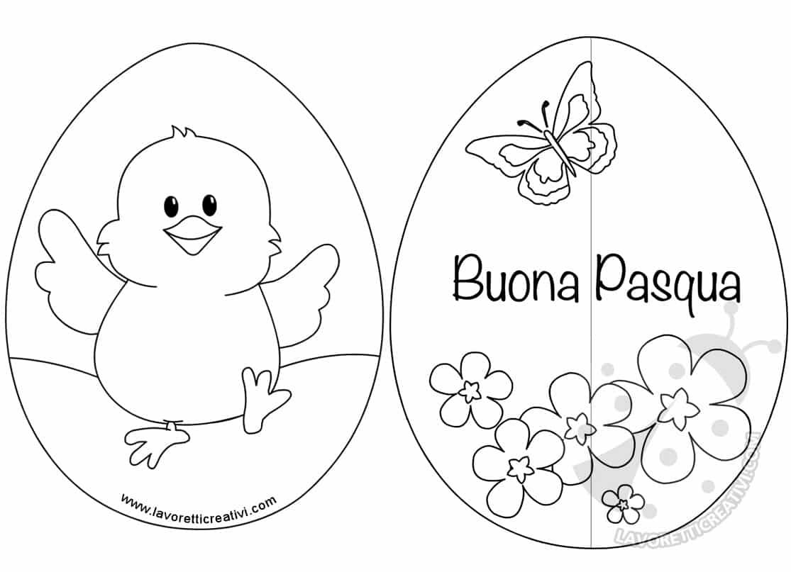 Lavoretti di Pasqua per bambini Uovo con pulcino