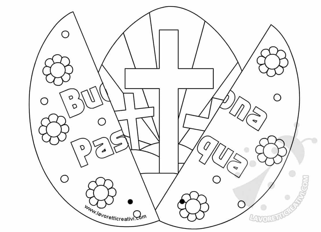Biglietto A Forma Di Uovo Con Poesia Di Pasqua