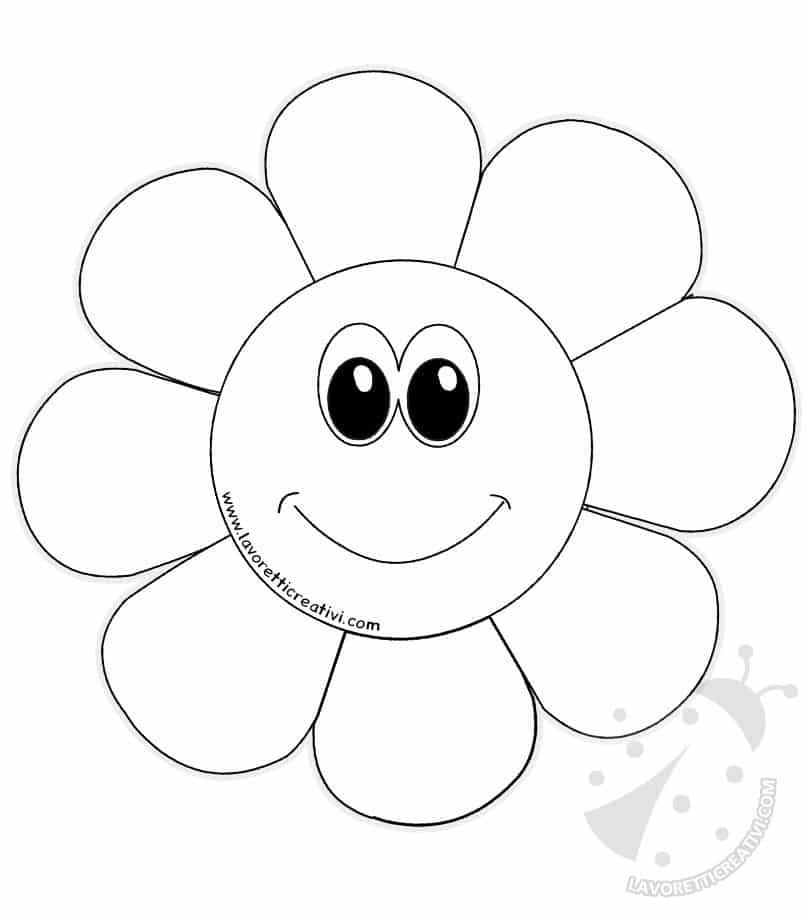 disegni di fiori di primavera per bambini da colorare