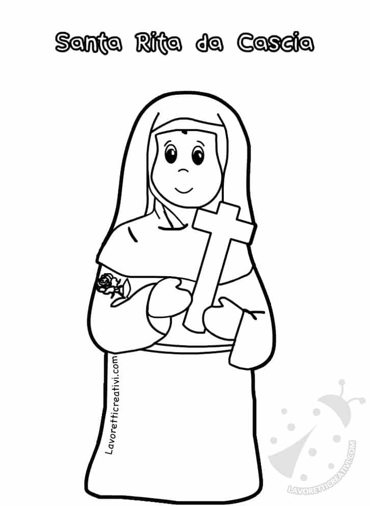 Disegni di Santi da colorare Tutti i Santi  Lavoretti