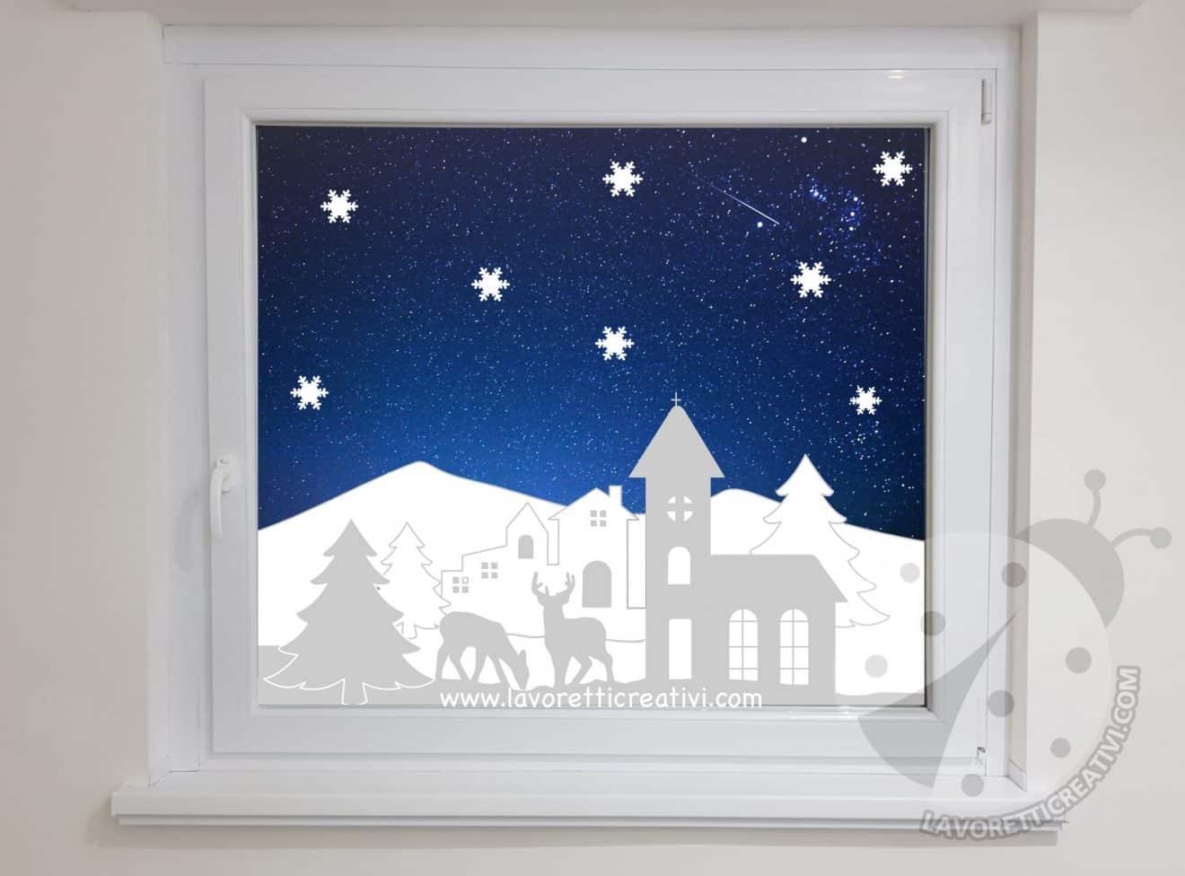 Decorazioni finestre scuola inverno decorazioni finestre for Decorazioni invernali per scuola