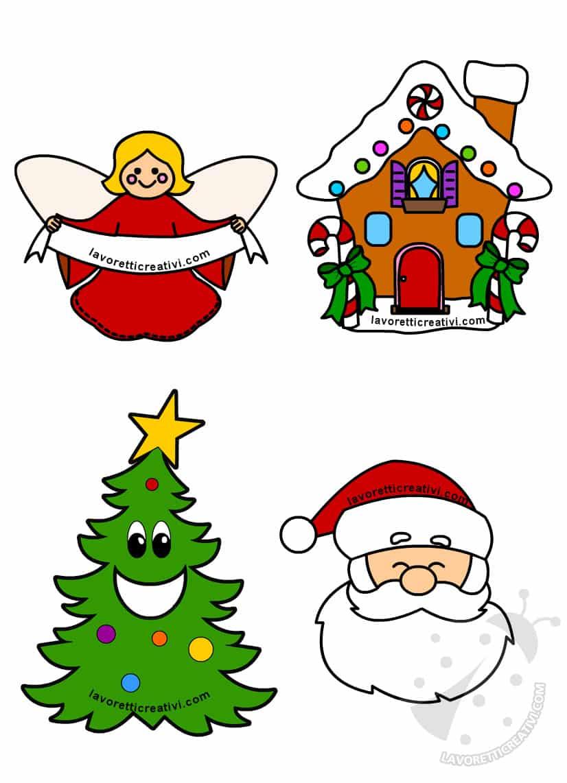 Disegni di Natale colorati per bambini da stampare