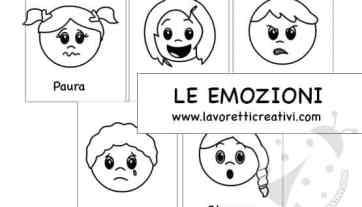 Le Emozioni Dei Bambini Schede Da Stampare Lavoretti Creativi