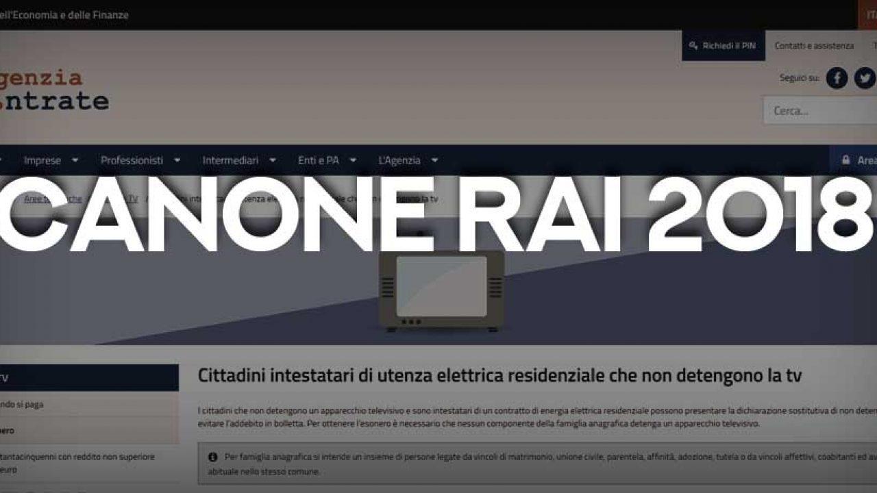 Canone Rai 2018 Come Richiedere Lesenzione Lavoro E Diritti