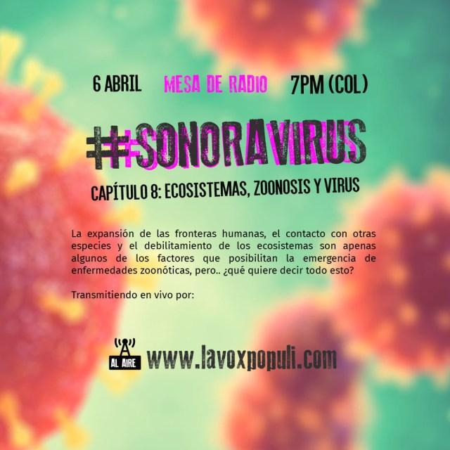 #SONORAVIRUS Cap. 8 Ecosistemas, zoonosis y virus