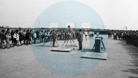 Exhibición de pruebas de Educación Física / Archivo