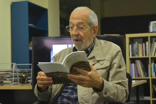 Rafael Portillo durante la presentación de su libro 'Alcalá, en torno a 1950. Memorias de un niño de la época' / Francisco Segura