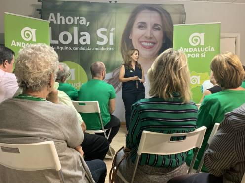 La candidata de AxSí, Lola Aquino / AxSí