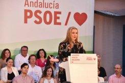 Ana Isabel Jiménez en un momento del mitin de cierre de campaña / PSOE