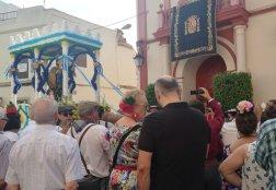 El patrón, a su llegada al Ayuntamiento / Hdad. San Mateo