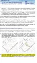 """El documento señala la """"relocalización"""" del área ajardinada para """"ampliación de plazas"""" de la bolsa de aparcamiento"""