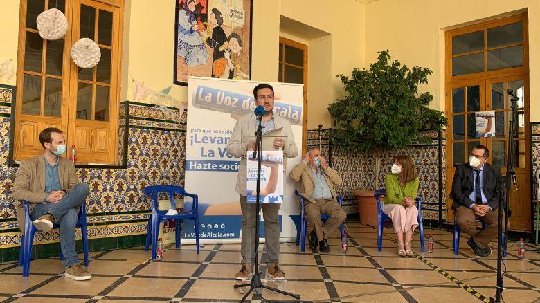 Christopher Rivas en la presentación de 'Tres décadas contando Alcalá' / Lva