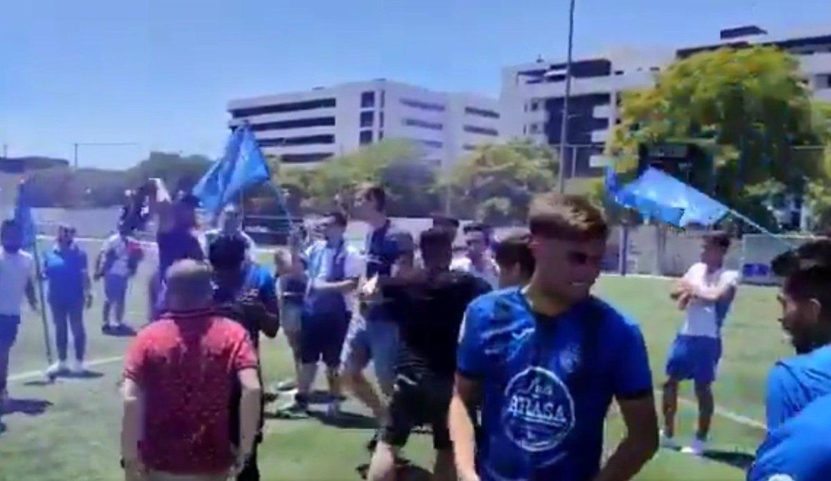 CD Alcalá tras el partido contra el Ciudad Jardín / RRSS