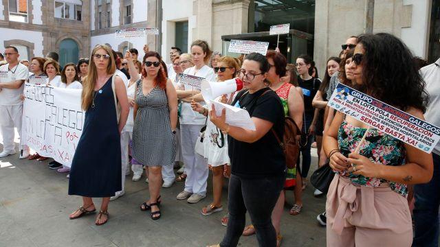Protesta contra la precariedad en el ámbito sanitario