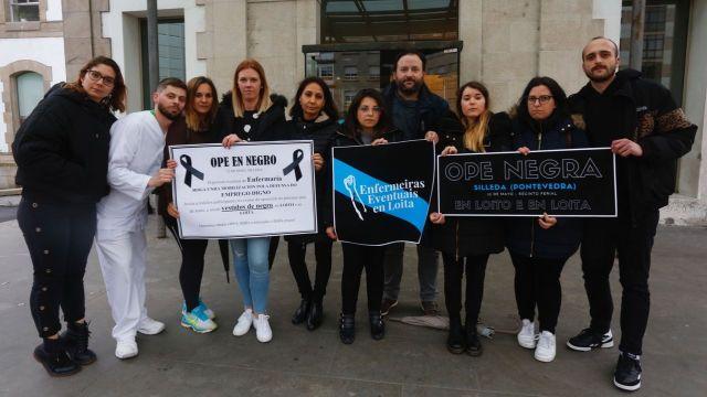 Las enfermeras eventuales se hacen oír con el proyecto #12meses12loitas