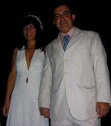 María y Gumersindo, el día de su boda