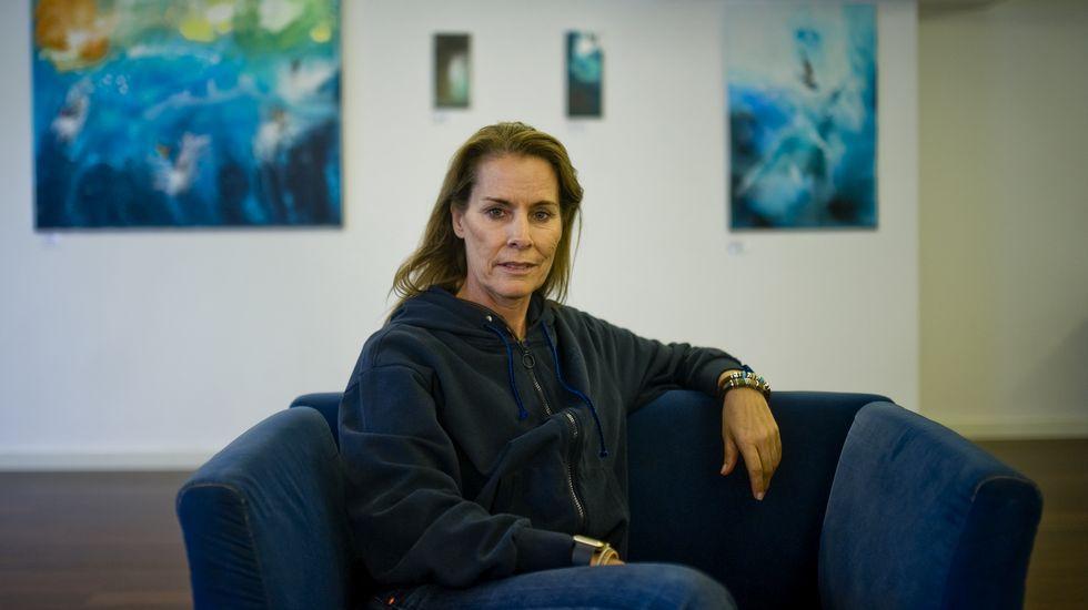 Theresa Zabell, en el hotel Carrís Almirante, donde ofreció una charla sobre el medio ambiente y los deportes náuticos