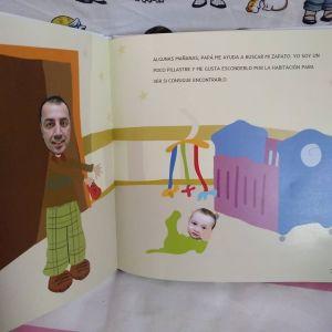 papá y gonzalo en el libro