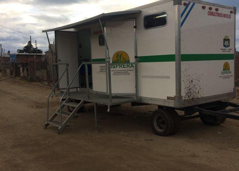 Consultorios médicos móviles en Comodoro Rivadavia por la obra social OSPRERA