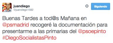 Imagen del perfil de twitter de Juan Diego Ortiz