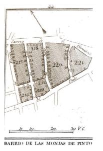 Plano del Barrio de las Monjas de Pinto en Madrid