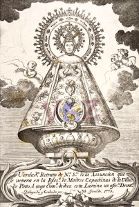 Grabado de la patrona de Pinto de 1775
