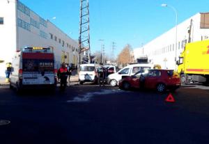 Accidente entre las calles Estorninos y Albatros. Fotografía: @PIMERPinto