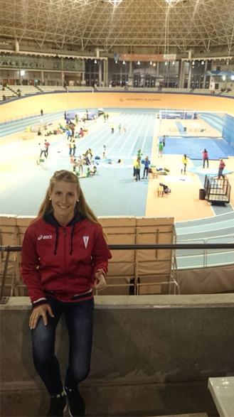 Noelia Pacheco en el Velódromo