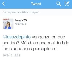 Tuit de Lara Rodríguez