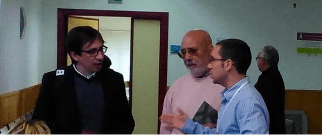 Ramón Marcos y José Luis Contreras en su visita a al Centro de Salud Dolores Soria. Fotografía: UPyD Pinto.