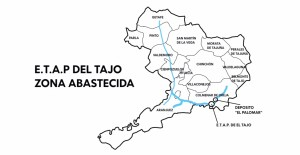 Zona abastecida por la ETAP del Tajo. Fuente: Canal de Isabel II