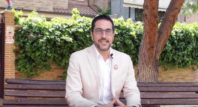 Diego Ortiz, candidato del PSOE a las #EleccionesPinto19. Fotografía: La Voz de Pinto.