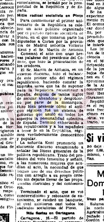 """Pie de foto del periódico: Noticia publicada en el diario """"La Libertad"""" el 17 de abril de 1932."""