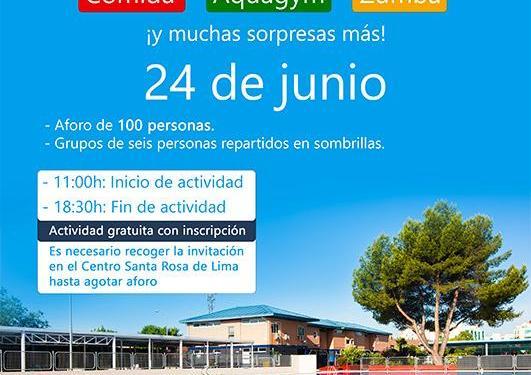 Los mayores de Pinto volverán a sus actividades normales en el Centro Rosa de Lima, comenzando con un gran día de piscina.
