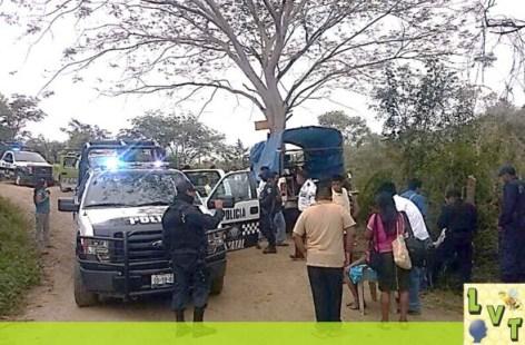 Elementos de la Policia del Estado acordonaron el area