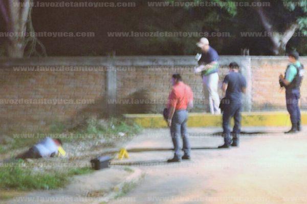Sicarios persiguen y ejecutan a hombre en Poza Rica. Foto: LVDT.