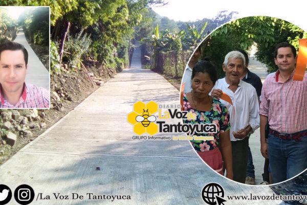 Entrega JAFS obra por casi medio millón de pesos en Zapotitla, Chalma