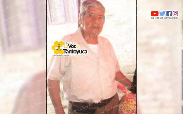 Buscan a adulto mayor extraviado en Tantoyuca