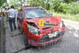 Deja daños materiales aparatoso choque en Tantoyuca   Diario La Voz De Tantoyuca