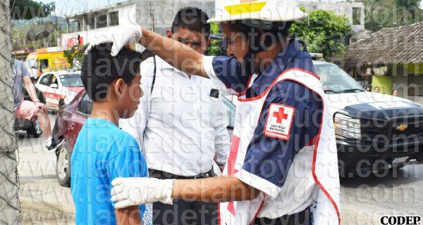 Niño resulta lesionado en accidente vial, en Tantoyuca   LVDT