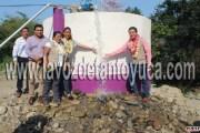 Entrega Pedro Adrián Martínez Estrada moderno Sistema de Agua Potable en El Cuartel
