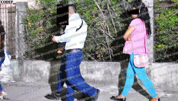 Las dos jovencitas fueron trasladadas a la comandancia local para un examen médico | LVDT