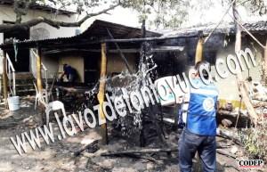 Incendio a punto de consumir una humilde vivienda en su totalidad | LVDT