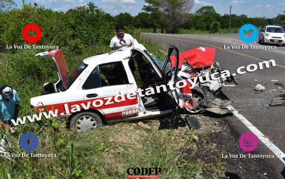 Tres lesionados deja aparatoso accidente de taxi, en Tantoyuca | LVDT