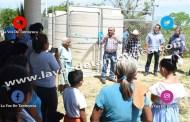 Entregan captadores de agua en Sabana Grande