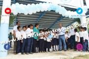 Entrega Ayuntamiento techado escolar con captadores de agua en Maguey Aquiche