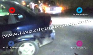 Solo daños materiales deja percance vial en el estacionamiento de Aurrera   LVDT